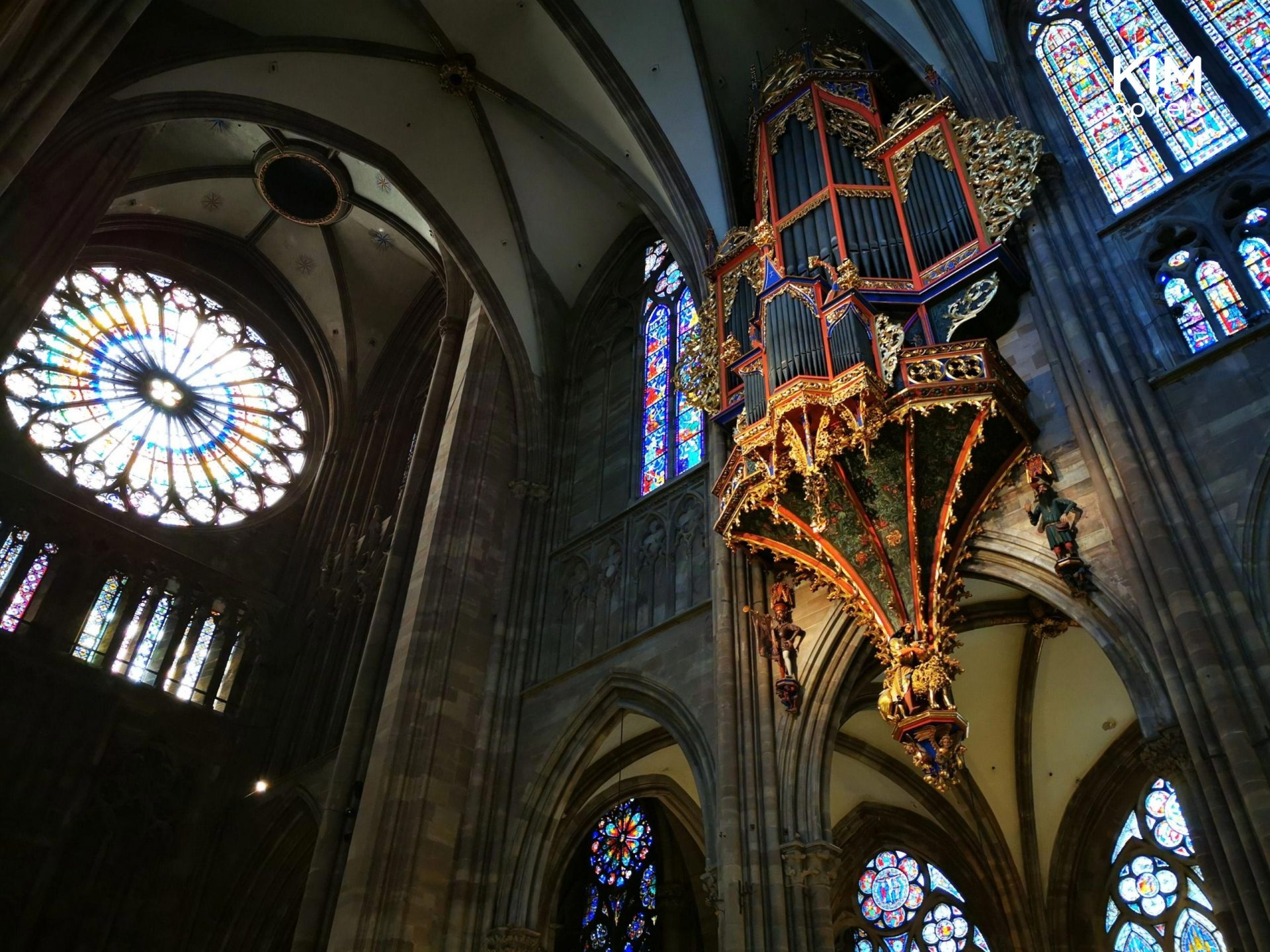Organ in the Strasbourg cathedral