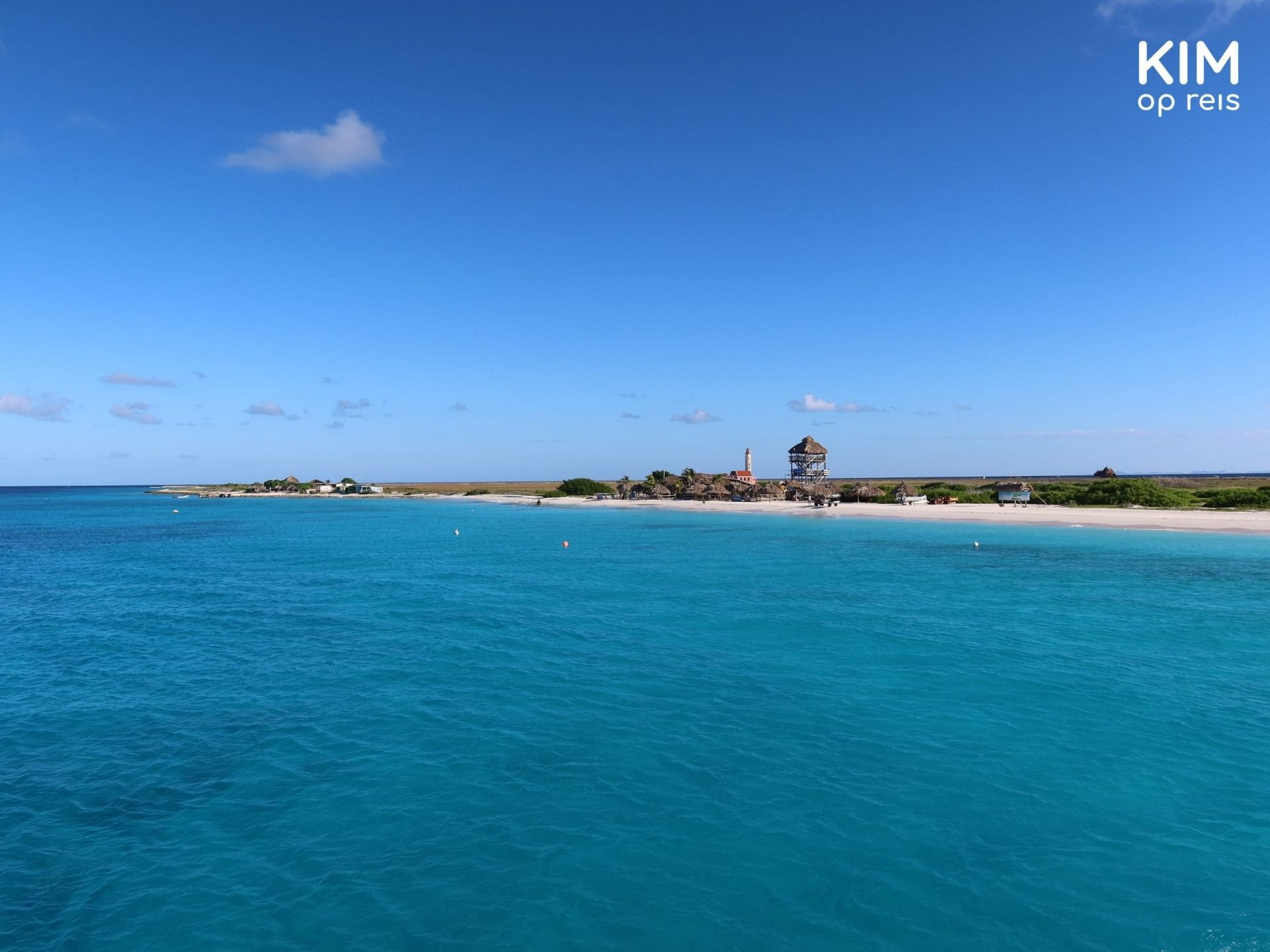 Arrival at Klein Curaçao: part of the island seen from the boat.